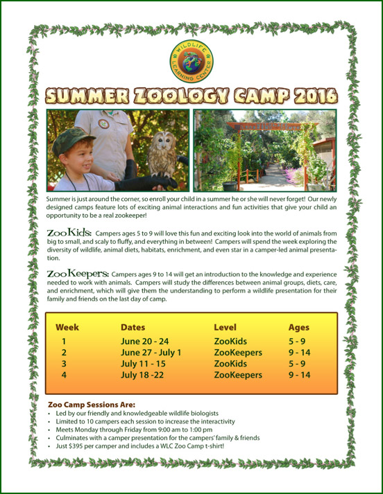 WLC Summer Zoology Camp
